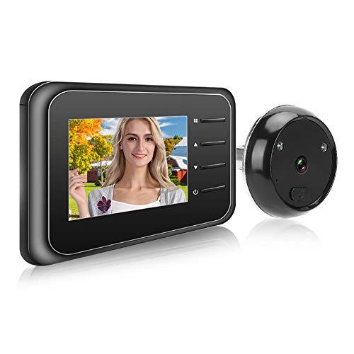 Borlai Visor Digital de Puerta Videoportero Resistente a La Intemperie Vista en Vivo -2. 4 Pulgadas