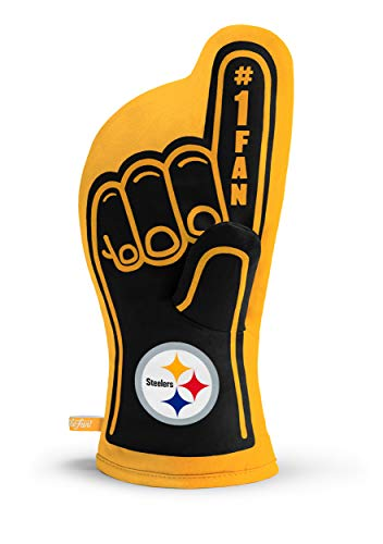 YouTheFan NFL Pittsburgh Steelers #1 Oven Mitt Team Color, 13.25
