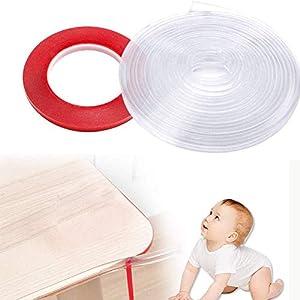 Protector para Esquinas, Protector de borde para Bebés Transparente, 6 M Protector Esquinas Bebe, 1 rollo de cinta adhesiva de doble cara, Protector para bordes y esquinas, Protector Borde Anti-Golpe