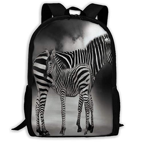 NA Rugzak Voor Meisjes Jongens Zebra Dieren In Afrika Rits School Boekentas Dagtas Reizen Rugzak Gym Tas Voor Man Vrouwen