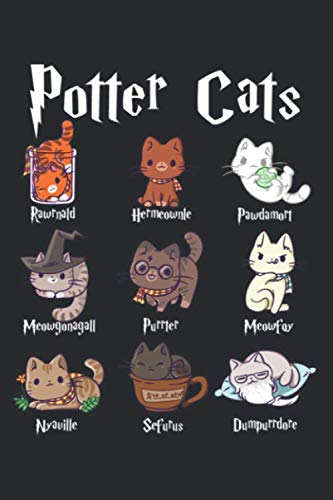 """Potter Cats Cute Harry Pawter Kitten Gifts For Her Pullover: Undated Notebook Planner - Daily Planner Journal, To Do List Notebook, Daily Organizer (6"""" x9""""), 117 Pages"""
