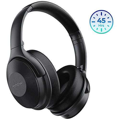 Mpow H17 Auriculares con Cancelación de Ruido, 45 Horas de Reproducir, Cascos Bluetooth Diadema con Carga Rápida, Sonido Hi-Fi, Auriculares Diadema Bluetooth con Micrófono para TV/Móvil/PC