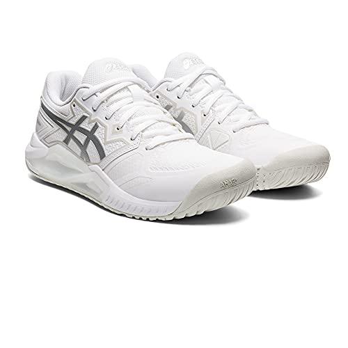 ASICS Damskie buty do tenisa Gel-Challenger 13, White Pure Silver - 39.5 EU