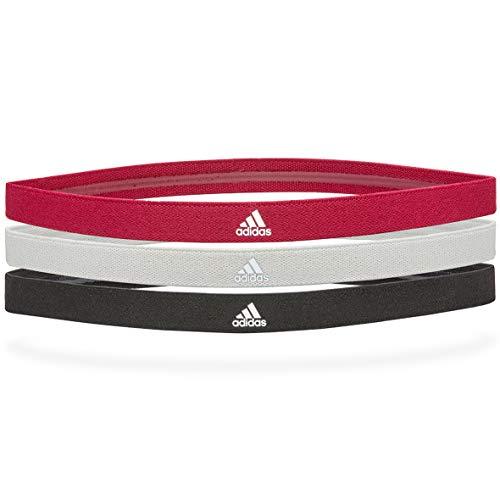 adidas Unisex-Erwachsene Sporthaarbänder Stirnband, Schwarz, Grau, Power Berry, Einheitsgröße