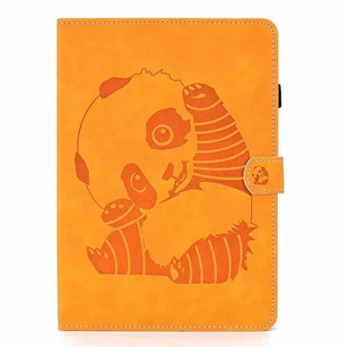 Funda para tablet Amazon Fire HD 8 (7a y 8a generación), piel sintética, función atril, cierre magnético, diseño de oso panda, caqui