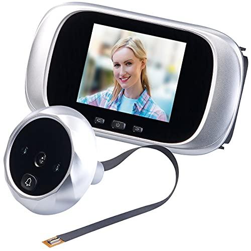 """Somikon Elektronischer Türspion: Digitale Türspion-Kamera mit 7,1-cm-Farbdisplay (2,8"""") und Nachtsicht (Kamera für Haustür)"""