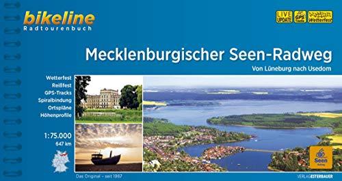 Mecklenburgischer Seen-Radweg: Von Lüneburg nach Usedom. 1:75.000, 647 km, wetterfest/reißfest, GPS-Tracks Download, LiveUpdate (Bikeline Radtourenbücher)