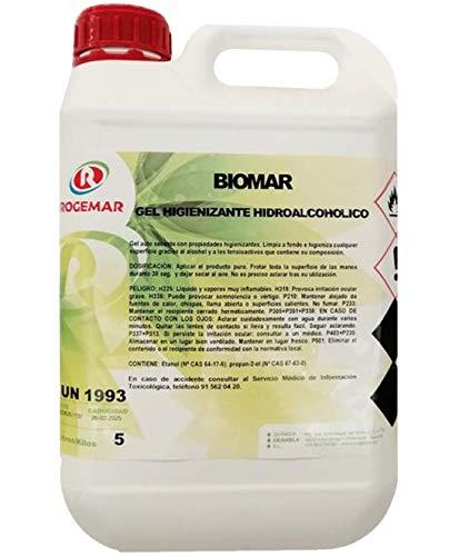GEL DE MANOS HIDROALCOHOLICO. Gel hidroalcohólico, antibacterias de secado instantáneo. Envase 5 Litros