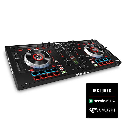 Numark Mixtrack Platinum | DJ Controller With LCD Displays, 4 Decks,...