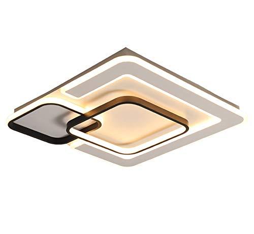 Plafón LED Regulable para Habitación Juvenil Sala De Estar Cuadrada Creativa Lámpara De Techo Lámparas Modernas para Habitaciones Infantiles 3000K-6000K Estilo Nórdico Balcón Estudiar Sala,L42CM/56W
