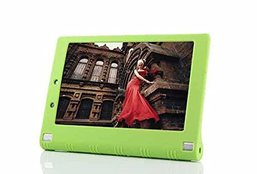 Para Lenovo Yoga Tablet 2 1050f 10.1 pulgadas silicona cubierta caso yoga tab 2 10 10.1 pulgadas 1050f gel de sílice suave bolsa protectora Yoga tab2-verde