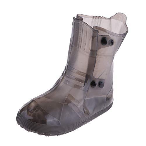 P Prettyia Herren Damen Schuhe Cover wasserdichte Überschuhe Regenschutzhüllen Regenstiefel Outdoor Shoecover - Weiß M