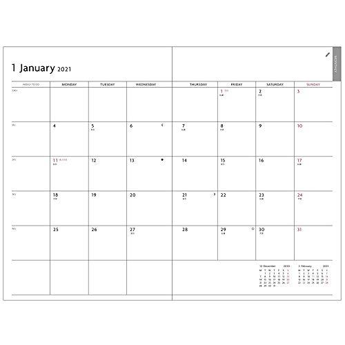 マークス手帳2021スケジュール帳ダイアリーEDiT1日1ページ2021年1月始まりB6変型ニュアンスカラー21WDR-ETA03-GY