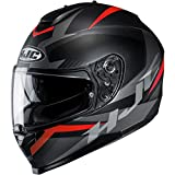 HJC C70 Helmet - Troky (Large) (Black/RED)