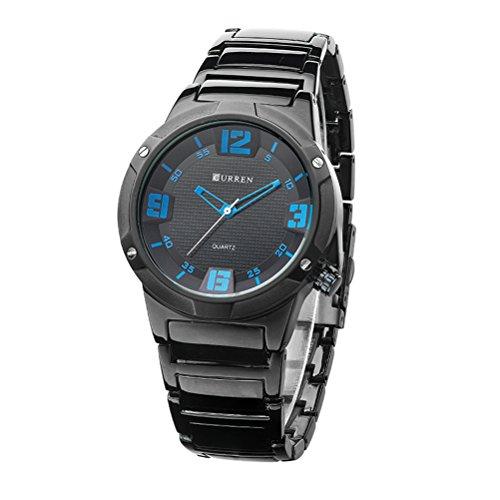 Top-Marke Herren Quarz Sportuhren Militär Curren Armbanduhren Casual Wolfram Stahl Herrenuhr Wasserdicht