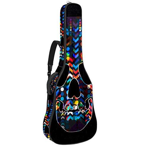 Funda para guitarra eléctrica acústica con diseño de calavera con elementos abstractos...