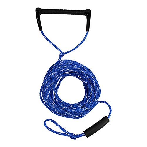 """SGT KNOTS Water Ski Rope with Floating Handle - Lightweight Watersports Rope for Wake Board Tow, Towing Tubes & More (3/8"""" x 75ft, BlueWhite)"""