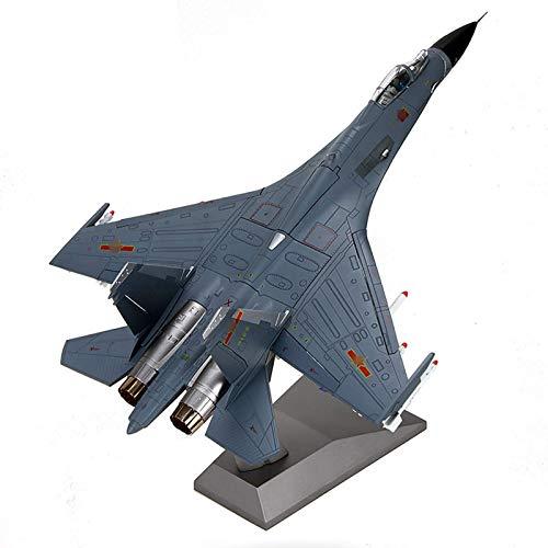 JHSHENGSHI Modelo Militar del combatiente del Metal del Modelo del Aeroplano, avión de Combate de la Escala J-11B del 1/48