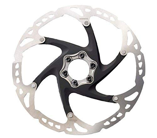 SHIMANO Cycling Bremsscheibe Deore XT SM-RT 76 Brake Disc 6 Holes 160mm SMRT76S, Silver, 160 mm
