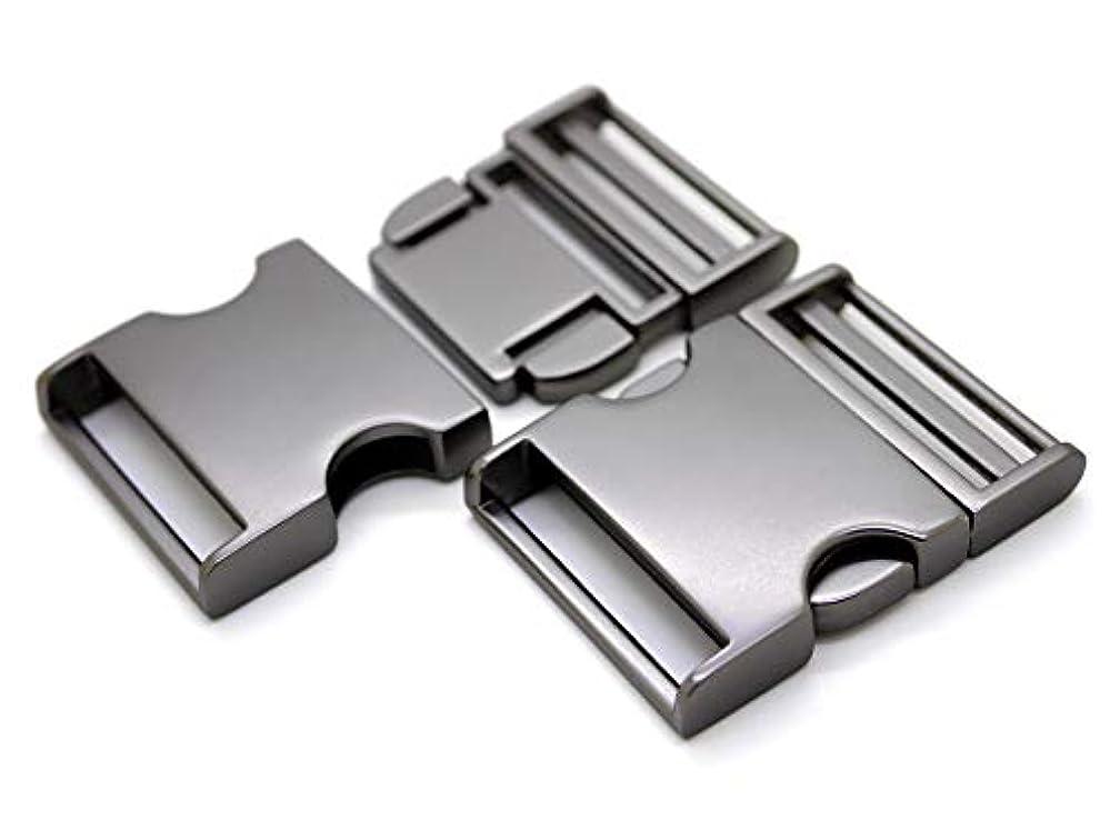 CRAFTMEmore 2 pcs 1 inch Metal Curved Side Release Buckle Webbing Bag Clip Lock Belt Strap Backpacks Collar - Premium Quality (Matte Black)
