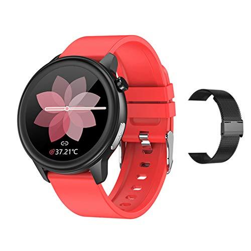 YDZ ECG Male E80 Smart Watch Smartwatch Android iOS IP68 Reloj Ritmo Cardíaco Corazón Spygmomanómetro Deportes Fitness Lady Smart Reloj,H