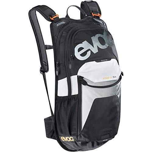 EVOC Stage Team Performance Rucksack, Black/White, 50 x 28 x 9 cm, 12 Liter