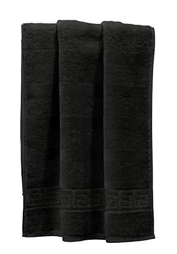 Cawö Handtuch 1001 Noblesse schwarz Größe 50x100 cm