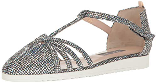 SJP by Sarah Jessica Parker Women's Meteor Closed Toe Ankle Strap Flat, Scintillate, 37.5 M EU (7 US)