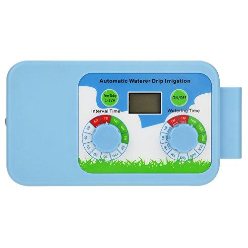Haofy Kit de Temporizador de Agua, Temporizador de riego, Llave de Agua programable, Controlador de riego con Temporizador para jardín, Sistema de riego automático, batería/USB