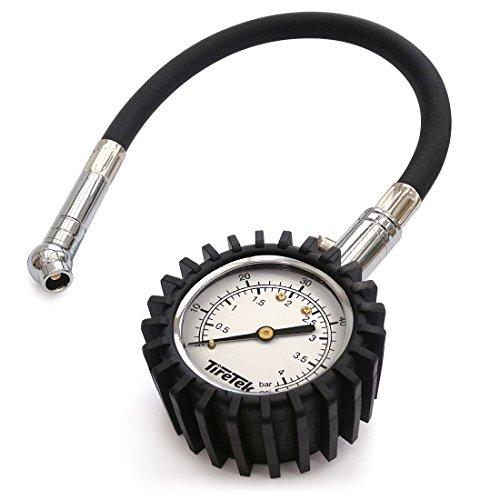 TireTek Flexi-Pro - Manómetro de presión de neumáticos, resistente, para coche y...