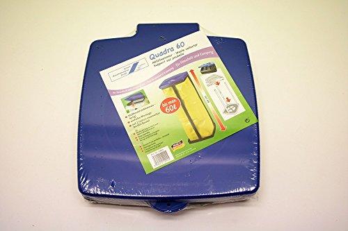 Müllsackständer Abfallsackhalter 60 l Liter Müllsack mit Deckel Müllständer Wertstoffbehälter Müllbeutelhalter für Gelber blauer Sack Abfall Abfalleimer Müllbeutel Gelbe Tonne Ständer Behälter