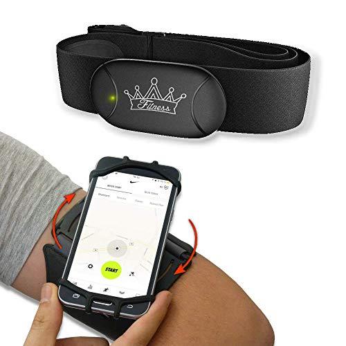 bestbeans© Heartbeat 3 AKKU Inside Power Bluetooth & ANT+ eBook Brustgurt Herzfrequenzmesser (Mit Armband Oberarm)