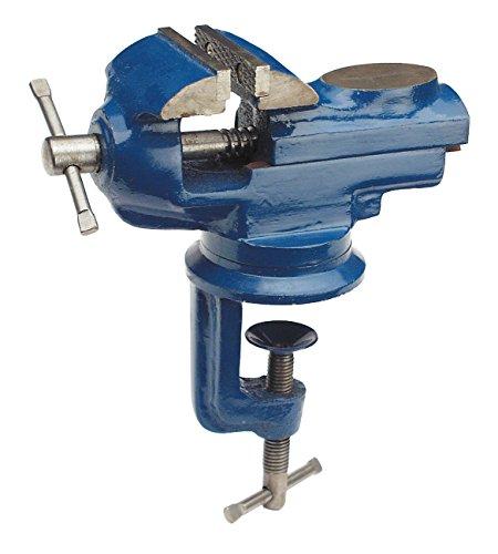 WABECO Mini Schraubstock drehbar 360° Tischschraubstock Werkbank Schraubstock Backenbreite 50 mm Spannweite 50 mm
