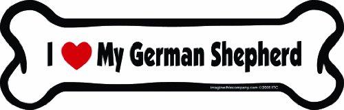 Imagine This Bone Car Magnet, I Love My German Shepherd, 2-Inch by 7-Inch