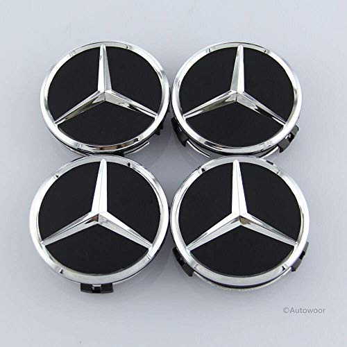 1 X Wheel Hub Cap W Mercedes Benz Emblem OEM# 2204000125 Alloy Wheel Silver