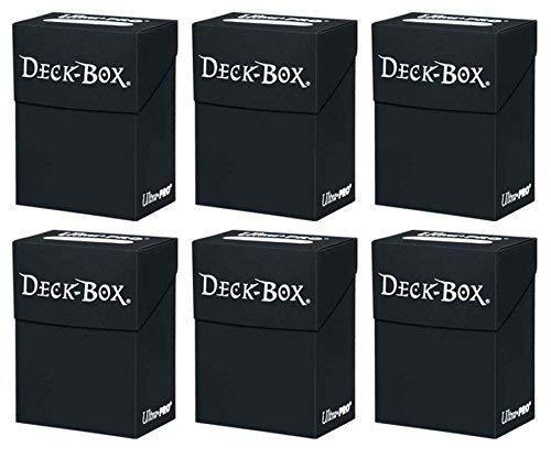 6x Ultra Pro Deck Box Schwarz - Black im Sparset