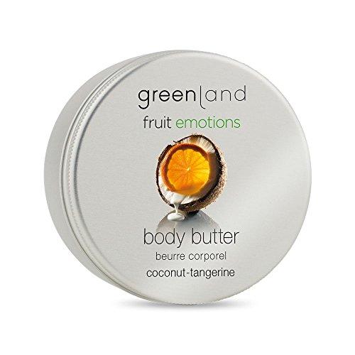Greenland Body Butter Kokos Manderine | Verwöhnende Alternative zu Kokos Lotion, Bodylotion ohne Parabene & Kokosnuss Creme| Pflegende Kokos Körperbutter