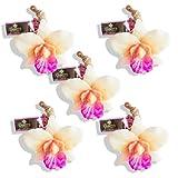 LABOTE Handgemachte thailändische Bio Naturseife Orchidee mit typischem Duft, 5 Stück