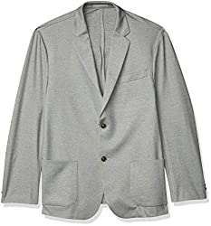 commercial Amazon Essential Mens Unlined Jersey Sports Coat Light Heather Gray X-Large travel sports coat
