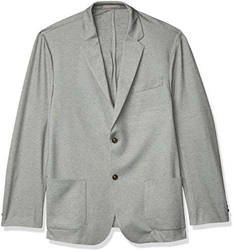 Amazon Essentials Mens Knit Sport Coat Light Gray Heather Medium