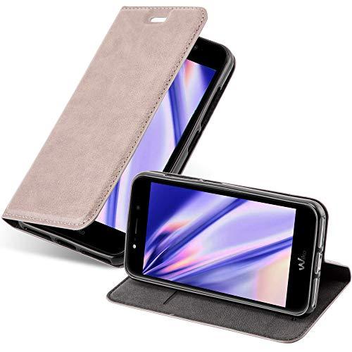 Cadorabo Hülle für WIKO WIM LITE in Kaffee BRAUN - Handyhülle mit Magnetverschluss, Standfunktion & Kartenfach - Hülle Cover Schutzhülle Etui Tasche Book Klapp Style
