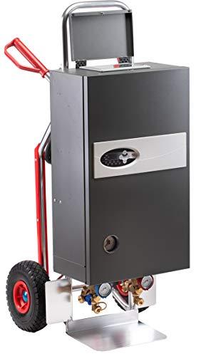 Mobile Heizzentrale 24 kW ASOS Classic 24e PLUS mit Multisteuerung, Estrichautomatikprogramm, 60-Tage programmierbar komplett mit Umwälzpumpe, Ausdehnungsgefäß und 5m Anschlusskabel - nur 31,2 kg
