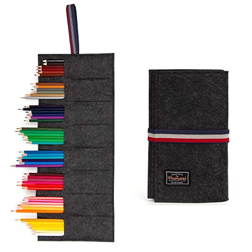 Pencil Holder Organizer 8 Slot, Felt Pencils Storage Organizer for Travel Drawing, Pencil Storage Case, Best Gift for boy, Boyfriend, student, kids. (No Pencil Included