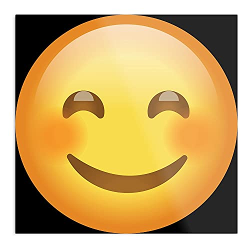 Cartel de pared con ojos de emoticonos, diseño de emoticonos