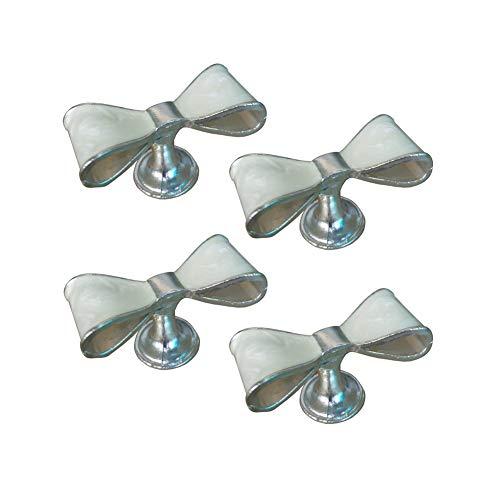 Kyien - Juego de 4 pomos de metal para armario de cocina, cajones, armarios y armarios