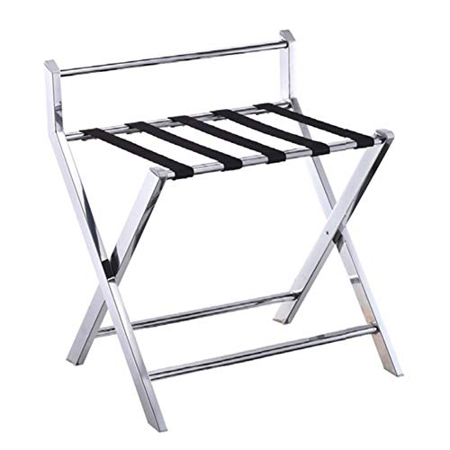 Lowest Price! XJJUN-Luggage Rack Luggage Rack Easy to Move Foldable Hotel Hanging Rod Metal Small Vo...