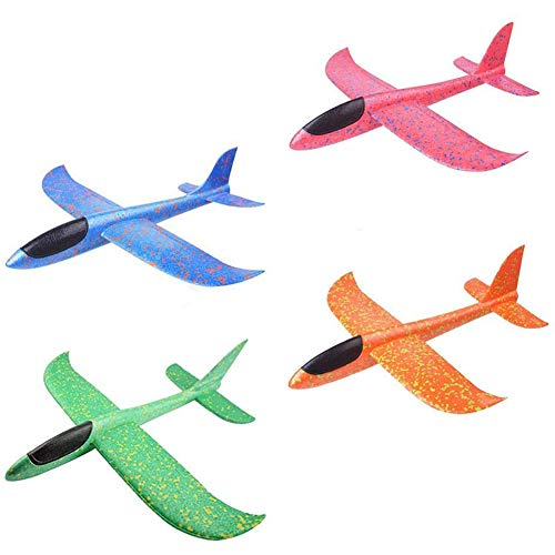 Bontand 13inch Espuma Aeroplano Mano Modelo Lanzamiento del Plano del Planeador 4pcs Tiro Deportes Aviones Juegos Aire Libre