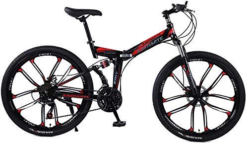 Bicicleta de montaña 21/24/27 Velocidad 24/26 Pulgadas Rueda Dual Suspensión Plawning Bike Dual Disc Freno MTB Bicicleta-26 Pulgadas_21 Velocidad