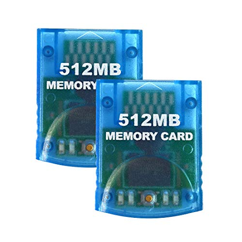Aoyoho 2 Packs Memory Card 512MB Gaming Memory Card Compatible for Wii and Gamecube NGC GC