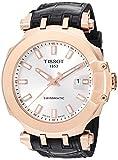 Tissot mens T-Race Stainless Steel Sport Watch Black T1154073703100